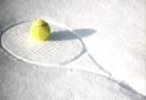 sneeuw en tennis