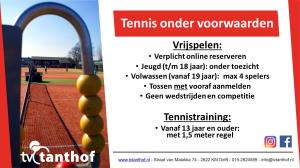Tennis onder voorwaarden